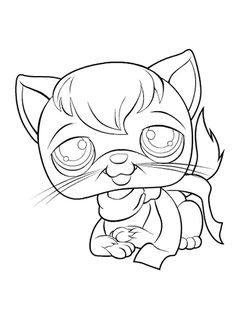 Coloringsco Lps Cat Coloring Pages