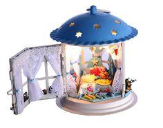 Arte de DIY casa de muñecas miniatura regalos artesanales Kit miniatura linterna Kits niños mujeres hombres juguete Asamblea Dollhouse kits Kits modelo Kit DIY