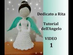 Angelo dedicato a Rita Christmas Angels, Kids Christmas, Crochet Angels, Lana, Holiday Gifts, Free Pattern, Knit Crochet, Christmas Decorations, Make It Yourself
