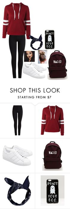 """Untitled #598"" by nightmarelove ❤ liked on Polyvore featuring adidas Originals, Boohoo and ASOS"