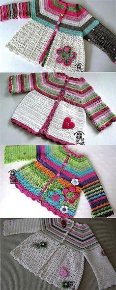 Crochet Baby Cardigan Tunisian Ideas For 2019 Gilet Crochet, Crochet Cardigan Pattern, Knit Crochet, Ravelry Crochet, Hoodie Pattern, Baby Girl Crochet, Crochet Baby Clothes, Crochet For Kids, Baby Bunny Outfit