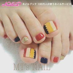 #mtsnail #エムティーズネイル #一宮ネイルサロン #一宮ネイル #プライベートネイルサロン #一宮市 #一宮 #ネイルサロン #ネイル #ネイルアート #ジェル #ジェルネイル...|ネイルデザインを探すならネイル数No.1のネイルブック Pretty Toe Nails, Cute Toe Nails, Pretty Nail Art, Toe Nail Art, Fall Nail Art Designs, Toe Nail Designs, Feet Nail Design, Korean Nail Art, Diva Nails
