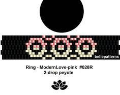 peyote ring pattern,PDF-Download, #028R-2d, 2 drop peyote, beading pattern, beading tutorials, ring pattern