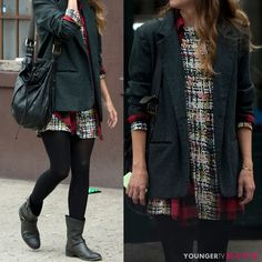 Street style comfort.  Styled by @patriciafield.  From the creator of Sex and The City, 'Younger' stars Sutton Foster, Hilary Duff, Debi Mazar, Miriam Shor and Nico Tortorella. Catch a sneak peek at http://www.tvland.com/shows/younger.
