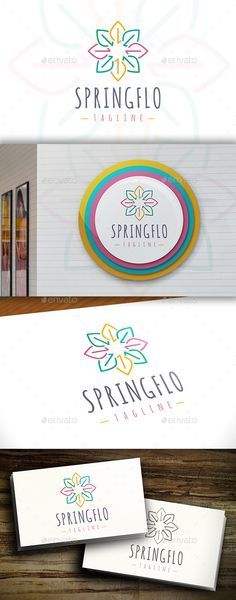 Spring Flower  Logo Design Template Vector #logotype Download it here: http://graphicriver.net/item/spring-flower-logo/11415682?s_rank=867?ref=nexion