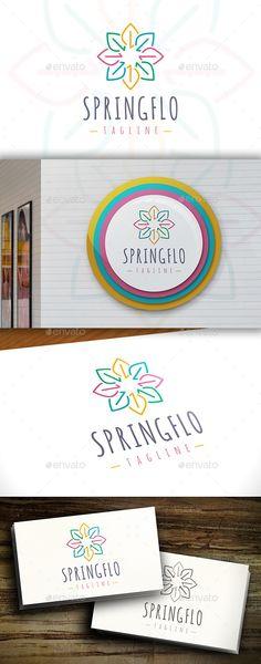 Spring Flower  Logo Design Template Vector #logotype Download it here: http://graphicriver.net/item/spring-flower-logo/11415682?s_rank=867?ref=nexion