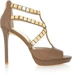 MICHAEL Michael Kors Studded leather sandals on shopstyle.com
