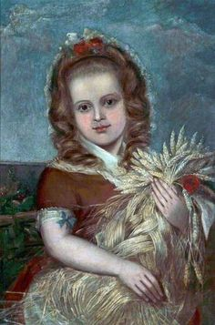 PHILIP STEER A Girl Making a Corn Dolly (Catherine, the Artist's Daughter)