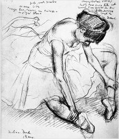 One of Degas' ballet sketches
