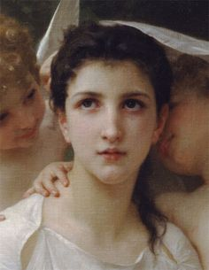 Leveil du coeur detail ~ William Bouguereau ~ French William Adolphe Bouguereau, Angel Williams, Angels Among Us, Art Hoe, Classical Art, Art For Art Sake, Art Forms, Female Bodies, Art Gallery