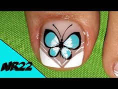 French Tip Pedicure, Pedicure Nail Art, Toe Nail Art, Cute Pedicure Designs, Toe Nail Designs, Uv Gel Nails, Diy Nails, Cute Pedicures, Acrylic Nails At Home