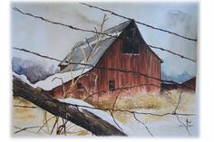more barn paintings. love the perspective and use of the foreground.