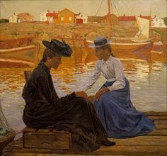 The Bay  Carl Wilhelmson ❧ {Swedish, 1866–1928}  Oil on canvas