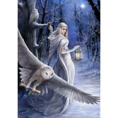 Reproduced from original paintings by Anne Stokes, the beautiful and magical themes portrayed in these stunning Yule cards are outstanding.Cards are individually wrapped in celophane with a decorated envelope.?
