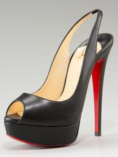 6a8ed9b2b9b4 Christian Louboutin Lady Peep-Toe Slingback Pump Black   Christian  Louboutin shoes