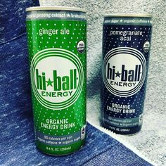 Excellent flavors from Hi-Ball Energy in the 8.4oz cans.  Both the Ginger Ale and Pomegranate Acai taste great with relatively low sugar levels (21g and 13g respectively). Just the right amount if sweetness and 80mg of organic caffeine in each can.  #energysupplyco #energydrink #energydrinks #organic #naturalfoods #caffeine #monsterenergy