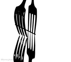 mirrored fork ans its shadow