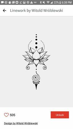 Tatuaje Tattoo Femeninos, Lotus Tattoo, Unalome Tattoo, Doodle Tattoo, Sternum Tattoo, Mandala Tattoo, Arm Band Tattoo, Tattoo Drawings, Cute Tiny Tattoos