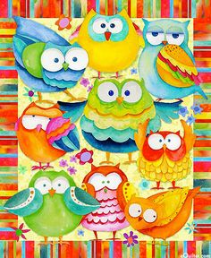 bright, whimsical owls from eQuilter.com