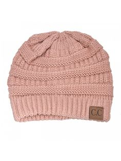 3b48ae10546 HUE21 Women s Sloutch Knit Beanie Hat - Rose Pink - CE11OXPR2IN