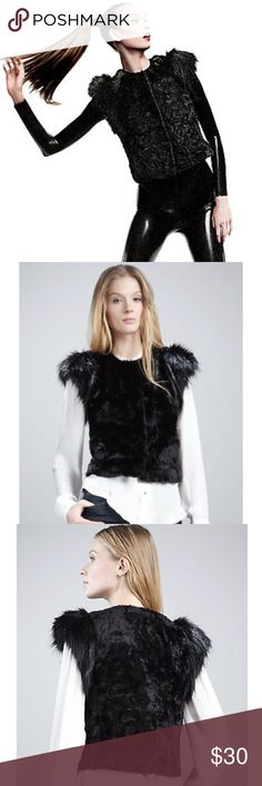 Skaist Taylor Neiman Marcus+Target Faux Fur Vest like new Skaist Taylor Neiman Marcus + Target Faux Fur Black Vest.  It is super cool, trendy & stylish, warm & cozy! Must have this season. Tags removed, wore one time, excellent condition. Skaist Taylor Jackets & Coats Vests