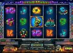 Играть на реальные деньги в автомат Zombirthday онлайн - Zombirthday — весьма необычный игровой автомат от компании Playson, ведь его главным героем является зомби, который решил устроить вечеринку в честь своего дня рождения. Но атмосфера этой игры не пугающая, а весёлая, т�