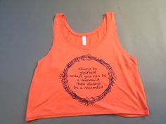 A personal favorite from my Etsy shop https://www.etsy.com/listing/225138096/coral-cropped-mermaid-tank-top