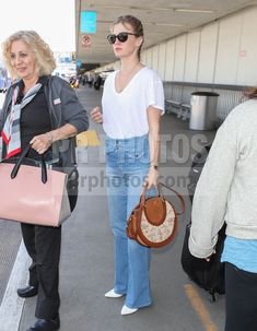 January Jones Sighted at LAX Airport in Los Angeles on April 13 2018