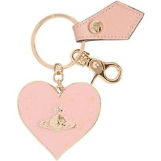 Vivienne Westwood Women Mirror Heart Key Chain (1 415 UAH) ❤ liked on Polyvore featuring accessories, pink, key chain rings, ring key chain, keychain key ring, heart key ring and leather key chain