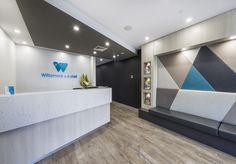 Clinic Design, Healthcare Design, Dental, Retirement Ideas, Reception Design, Lobby Design, Kiosk, Office Decor, Lab
