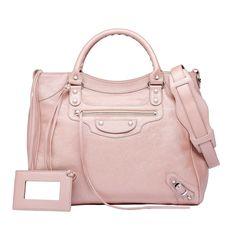 Pink Balenciaga Classic Silver Pearly Velo - Women's Holiday Collection - #Balenciaga #handbags