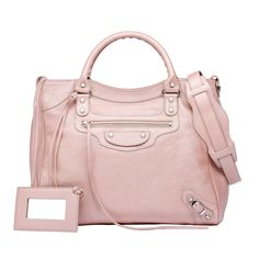Pink Balenciaga Classic Silver Pearly Velo - Women's Holiday Collection - #Balenciaga #handbags