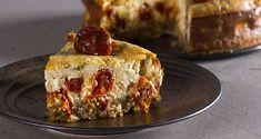 Cheesecake με τοματίνια και φέτα