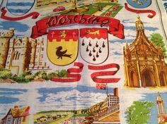 Vintage Irish Linen Tea Towel Souvenir of by Onmykitchentable, £10.00
