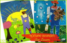Romare Bearden Art Lesson - must try this with other Bearden artworks!!!