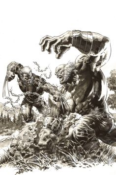 Secret Wars Wizard World variant cover (homage to The Incredible Hulk by Herb Trimpe) by Mike Deodato Jr. Make A Comic Book, Comic Books Art, Comic Art, Mike Deodato, Hulk Marvel, Marvel Heroes, Wolverine, Hulk 181, Old Man Logan