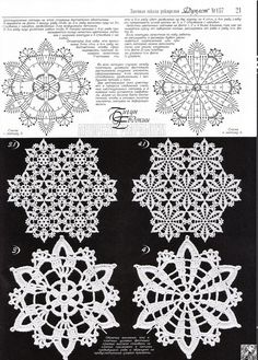 Crocheted motif no. Crochet Snowflake Pattern, Crochet Motif Patterns, Crochet Snowflakes, Crochet Diagram, Crochet Chart, Crochet Squares, Thread Crochet, Filet Crochet, Crochet Doilies