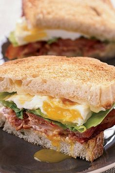 Thomas Keller's scrumptious recipe combines three of the world's most popular sandwiches—bacon, lettuce and tomato; fried egg; and grilled cheese. #breakfastrecipes #brunchrecipes #breakfastideas #brunchideas Bacon And Egg Sandwich, Cheese Sandwich Recipes, Tomato Sandwich, Egg Sandwiches, Healthy Sandwiches, Chicken Sandwich, Fried Egg Recipes, Blt Recipes, Brunch Recipes