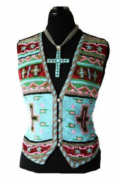Cowgirl Fashion :: Vests :: ROJA JAW DROPPING BEADED SW MOTIF VEST! - Native American Jewelry|Ladies Western Wear|Double D Ranch|Ladies Uniq...http://www.cowgirlkim.com/cowgirl-fashion/vests/roja-jaw-dropping-beaded-sw-motif-vest-en.html