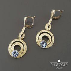 Theodor Fahrner Art Deco Silver-Gilt Drop Earrings 2