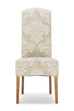 buy set of 2 sienna natural damask fabric dining chairs from the next