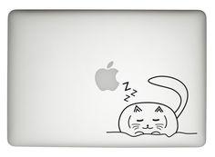 cat decal cat macbook pro decal cat laptop by dadavinylsanddesigns