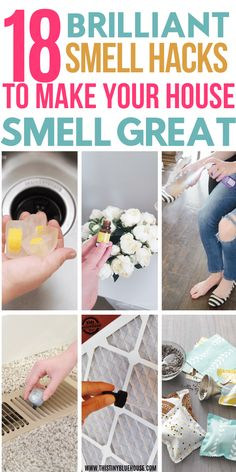 18 Ways To Make Your House Smell Amazing House Smell Good, Good House, House Smells, House Cleaning Tips, Diy Cleaning Products, Cleaning Hacks, Cleaning Mops, Deep Cleaning, Spring Cleaning