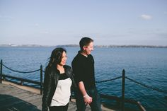 couple walking on Harbourfront