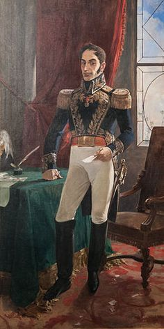 Simon Bolivar, President of the Republic of Venezuela. He is known as El Libertador as he helped Latin America gain their freedom. American War, American History, Latin America, South America, Trinidad, Ecuador, American Independence, Travel, Caracas