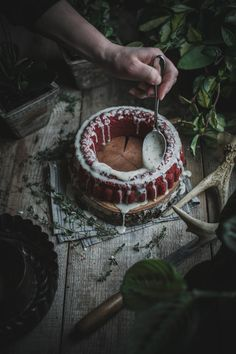 red velvet cake // made with beetroot and served with goat cheese glaze