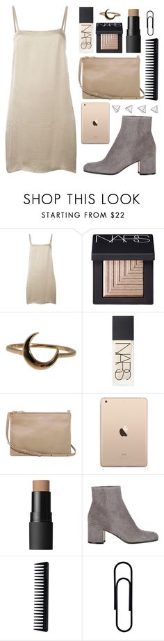 """Creme"" by marinenymphs ❤ liked on Polyvore featuring Lanvin, NARS Cosmetics, Lulu Frost, CÉLINE, Gianvito Rossi and GHD"