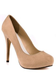 Love Me 2 Faux Suede Pumps in Nude $19.99 http://www.beyondtherack.com/event/sku/35537/MICLOVEMESUEDE2NU?filter[size]=7=*=1
