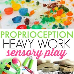 Heavy Work-is useful for helping kids calm down to be able to self-regulate. Proprioceptive Activities, Tactile Activities, Cutting Activities, Occupational Therapy Activities, Work Activities, Toddler Activities, Proprioceptive Input, Sensory Activities For Preschoolers, Senior Activities