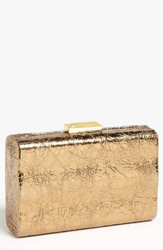 Expressions Metallic Box Clutch
